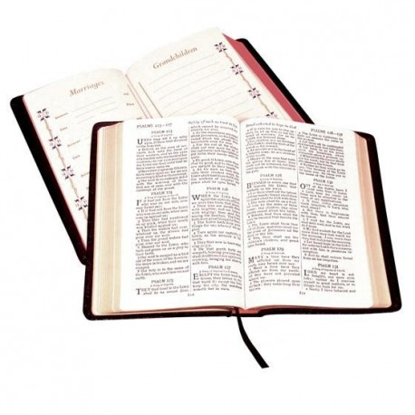 Cambridge KJV Large Print Family Bible - Black Leather