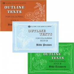 Outline Texts - Coloring Book - SET 1