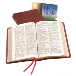 Windsor Text Bible - KJV - Calfskin - Thumb Index - BURGUNDY