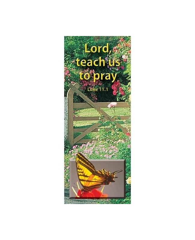 Bookmark Luke on lord teach us to pray coloring page